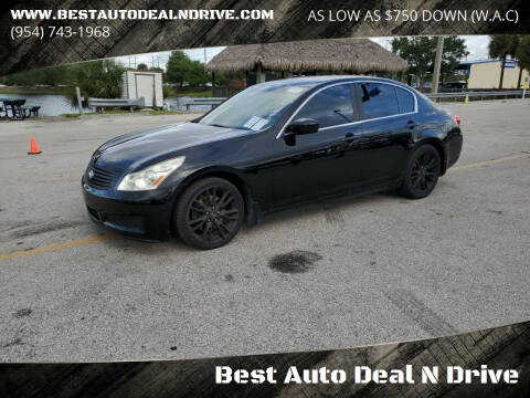 2009 Infiniti G37 Sedan for sale at Best Auto Deal N Drive in Hollywood FL
