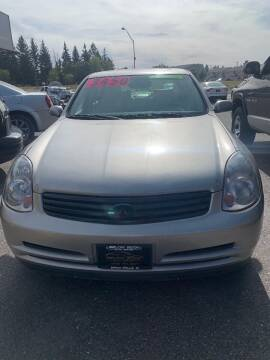 2003 Infiniti G35 for sale at BELOW BOOK AUTO SALES in Idaho Falls ID