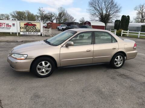 2001 Honda Accord for sale at Cordova Motors in Lawrence KS