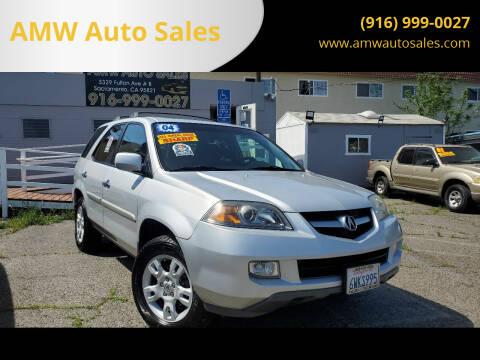 2004 Acura MDX for sale at AMW Auto Sales in Sacramento CA