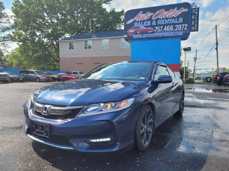2016 Honda Accord for sale at Auto Outlet Sales and Rentals in Norfolk VA