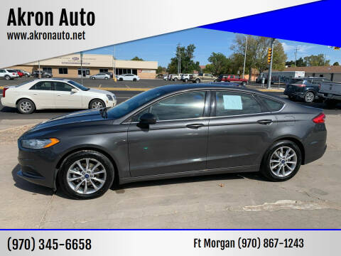 2017 Ford Fusion for sale at Akron Auto - Fort Morgan in Fort Morgan CO