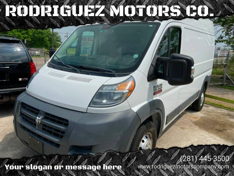 2016 RAM ProMaster Cargo for sale at RODRIGUEZ MOTORS CO. in Houston TX