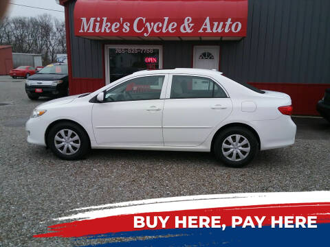 2009 Toyota Corolla for sale at MIKE'S CYCLE & AUTO in Connersville IN