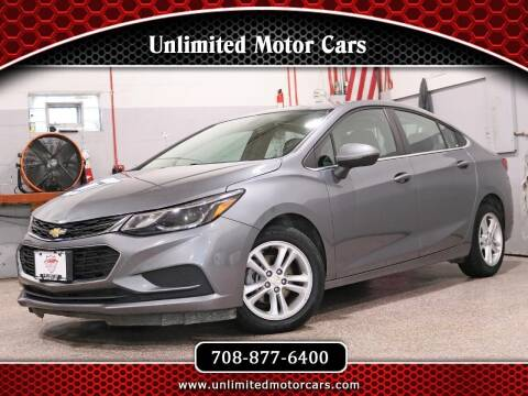 2018 Chevrolet Cruze for sale at Unlimited Motor Cars in Bridgeview IL