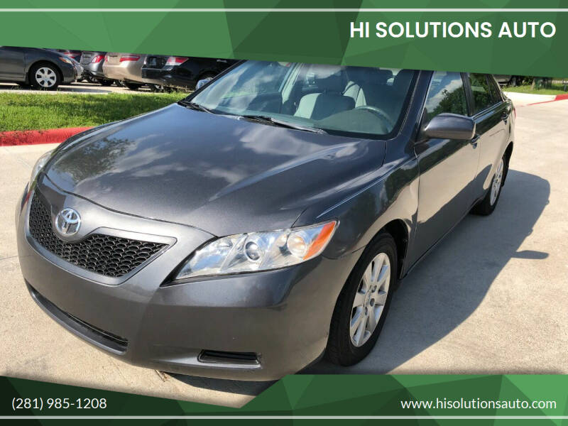2007 Toyota Camry Hybrid for sale at HI SOLUTIONS AUTO in Houston TX