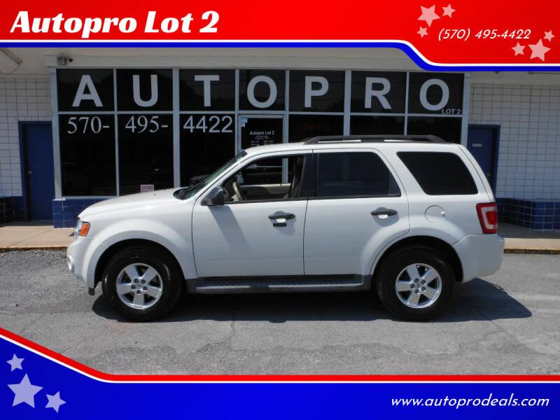 2011 Ford Escape for sale at Autopro Lot 2 in Sunbury PA