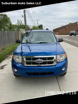 2011 Ford Escape for sale at Suburban Auto Sales LLC in Madison Heights MI