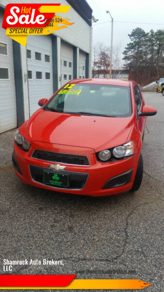 2012 Chevrolet Sonic for sale at Shamrock Auto Brokers, LLC in Belmont NH