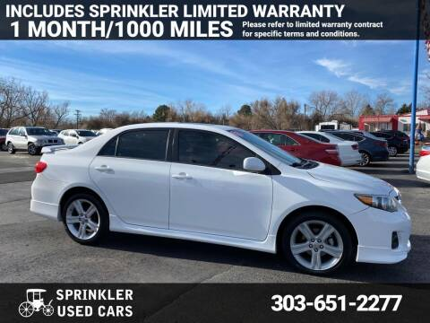 2013 Toyota Corolla for sale at Sprinkler Used Cars in Longmont CO