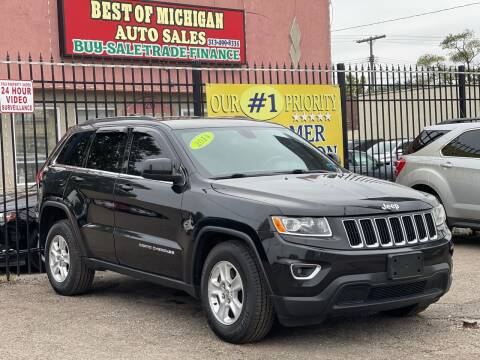2014 Jeep Grand Cherokee for sale at Best of Michigan Auto Sales in Detroit MI