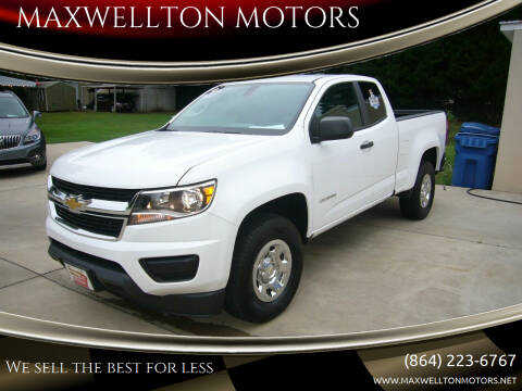 2015 Chevrolet Colorado for sale at MAXWELLTON MOTORS in Greenwood SC