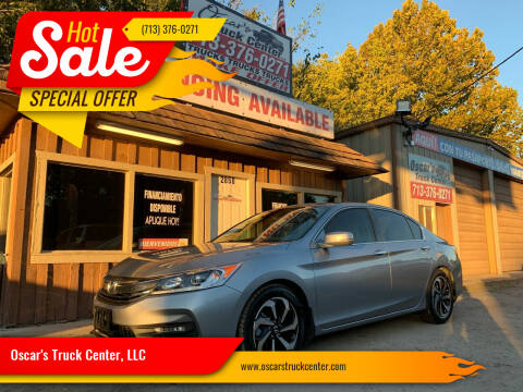 2016 Honda Accord for sale at Oscar's Truck Center, LLC in Houston TX