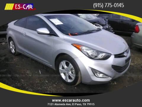 2013 Hyundai Elantra Coupe for sale at Escar Auto in El Paso TX
