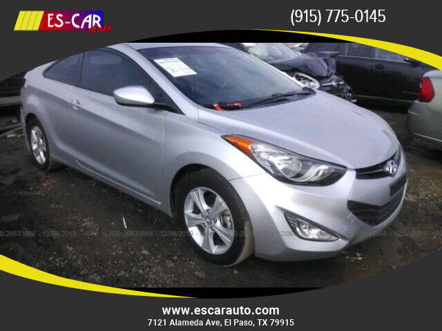 2013 Hyundai Elantra Coupe for sale at Escar Auto - 9809 Montana Ave Lot in El Paso TX