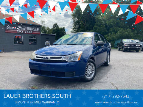 2009 Ford Focus for sale at LAUER BROTHERS SOUTH in York PA