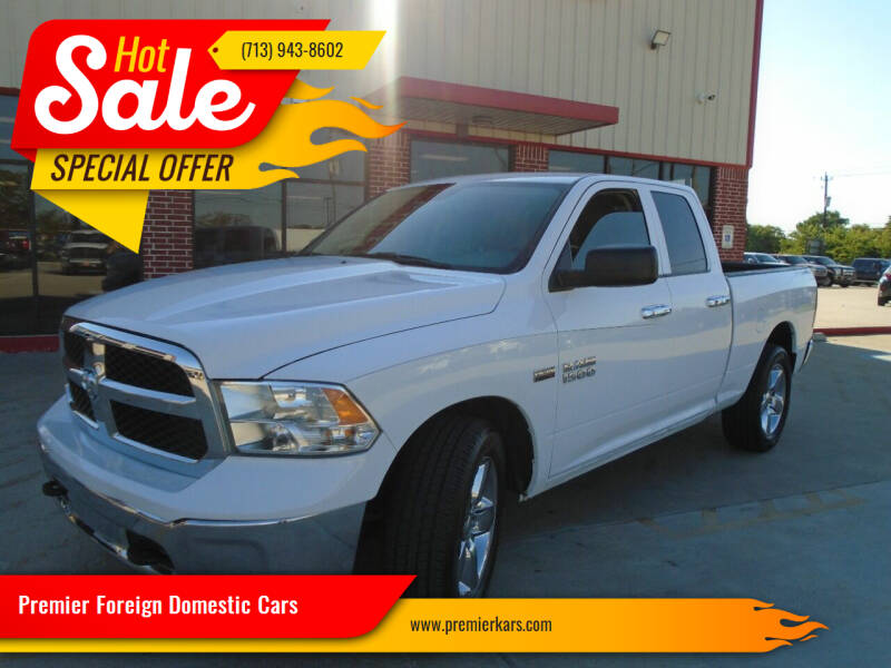 2018 RAM Ram Pickup 1500 for sale at Premier Foreign Domestic Cars in Houston TX
