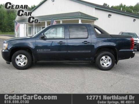 2007 Chevrolet Avalanche for sale at Cedar Car Co in Cedar Springs MI