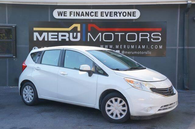 2014 Nissan Versa Note for sale at Meru Motors in Hollywood FL