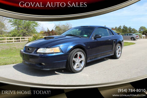 2002 Ford Mustang for sale at Goval Auto Sales in Pompano Beach FL