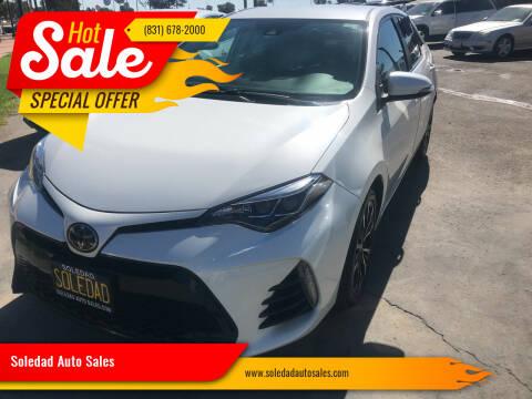 2018 Toyota Corolla for sale at Soledad Auto Sales in Soledad CA