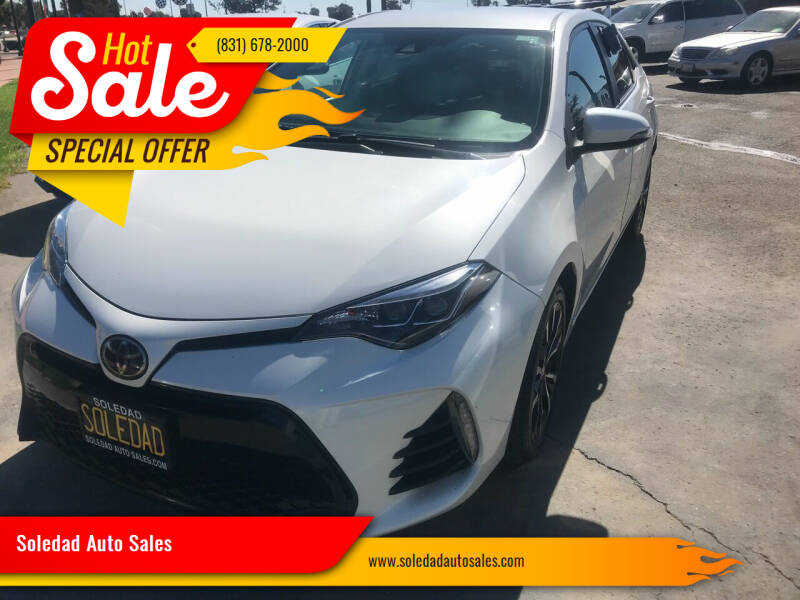 2018 Toyota Corolla for sale at Soledad Auto Sales in Soledad CA