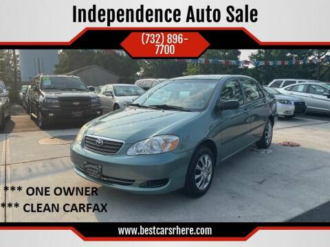 2007 Toyota Corolla for sale at Independence Auto Sale in Bordentown NJ