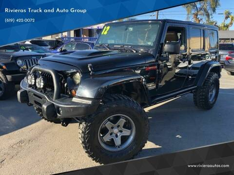 2012 Jeep Wrangler Unlimited for sale at Rivieras Truck and Auto Group in Chula Vista CA