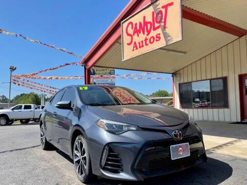 2017 Toyota Corolla for sale at Sandlot Autos in Tyler TX