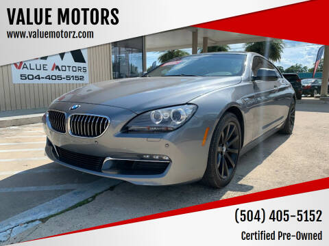 2015 BMW 6 Series for sale at VALUE MOTORS in Kenner LA