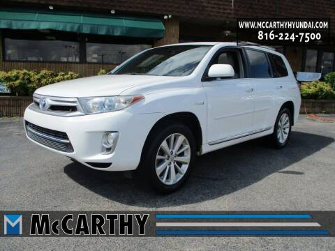 2013 Toyota Highlander Hybrid for sale at Mr. KC Cars - McCarthy Hyundai in Blue Springs MO