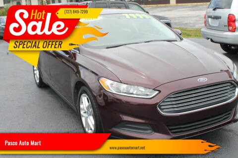 2013 Ford Fusion for sale at Pasco Auto Mart in New Port Richey FL
