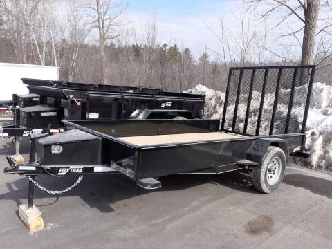 2021 Foxtrail 77'x12' Utility Trailer for sale at Mascoma Auto INC in Canaan NH