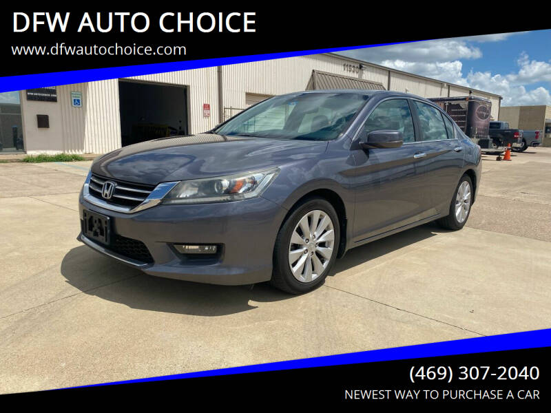 2014 Honda Accord for sale at DFW AUTO CHOICE in Dallas TX