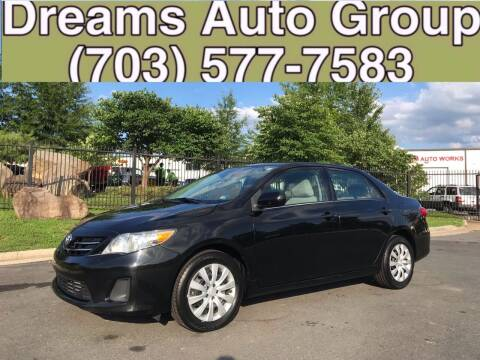 2013 Toyota Corolla for sale at Dreams Auto Group LLC in Sterling VA