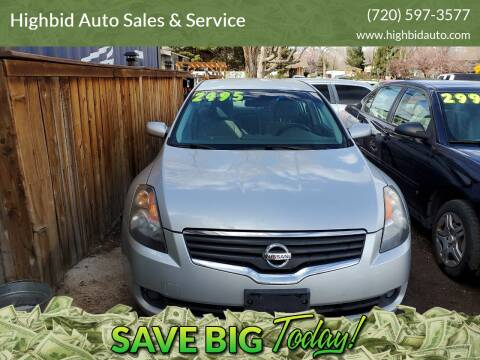 2007 Nissan Altima for sale at Highbid Auto Sales & Service in Lakewood CO