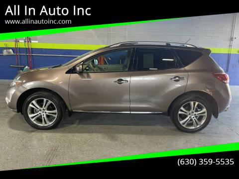 2011 Nissan Murano for sale at All In Auto Inc in Addison IL