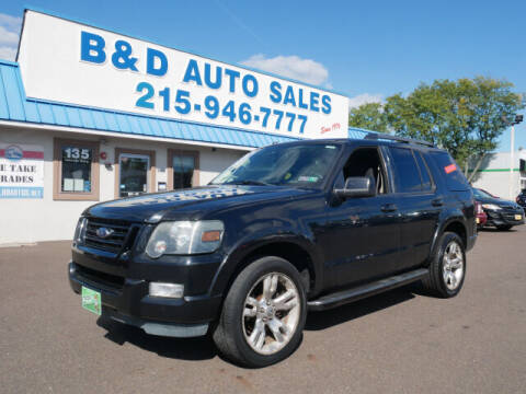 2010 Ford Explorer for sale at B & D Auto Sales Inc. in Fairless Hills PA