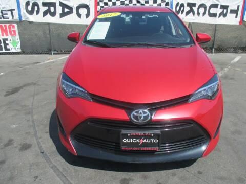 2017 Toyota Corolla for sale at Quick Auto Sales in Modesto CA