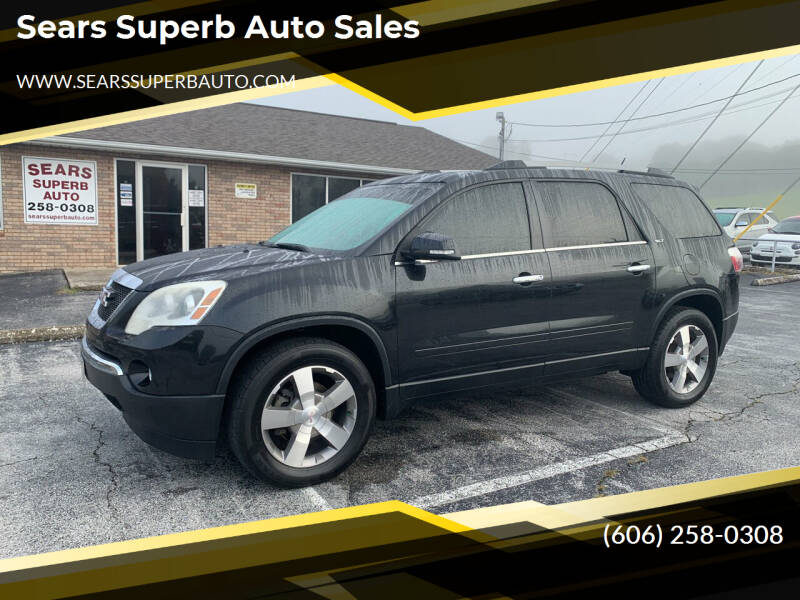 2010 GMC Acadia for sale at Sears Superb Auto Sales in Corbin KY