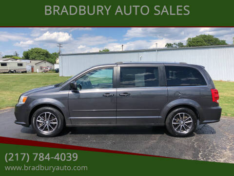 2017 Dodge Grand Caravan for sale at BRADBURY AUTO SALES in Gibson City IL