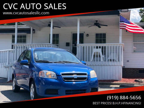 2009 Chevrolet Aveo for sale at CVC AUTO SALES in Durham NC