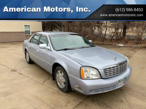 2004 Cadillac DeVille for sale at American Motors, Inc. in Farmington MN