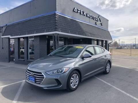 2017 Hyundai Elantra for sale at Apex Motors in Murray UT