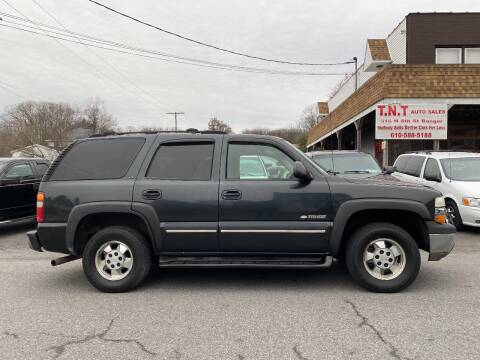 2003 Chevrolet Tahoe for sale at TNT Auto Sales in Bangor PA