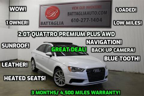 2016 Audi A3 for sale at Battaglia Auto Sales in Plymouth Meeting PA