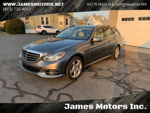 2016 Mercedes-Benz E-Class for sale at James Motors Inc. in East Longmeadow MA