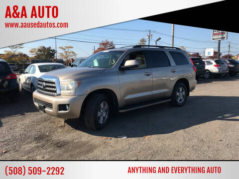 2008 Toyota Sequoia for sale at A&A AUTO in Fairhaven MA