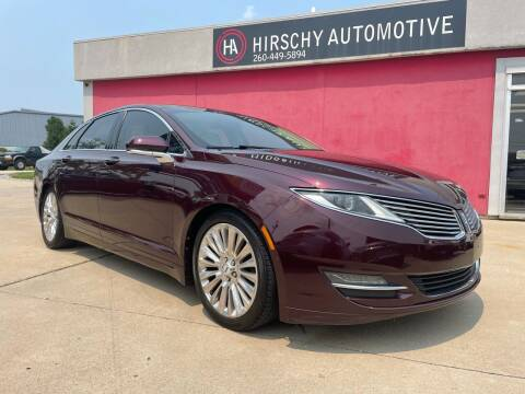 2013 Lincoln MKZ for sale at Hirschy Automotive in Fort Wayne IN