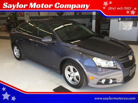 2013 Chevrolet Cruze for sale at Saylor Motor Company in Somerset PA